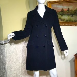 Raffinati Wool Double Breasted Fitted Pea Coat